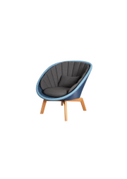Frame: Cane-line Weave, Midnight/Dusty Blue / Cushion: Selected PP, Dark Grey
