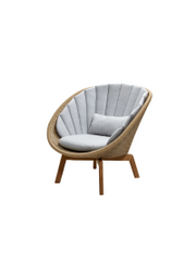 Frame: Cane-line Weave, Natural / Cushion: Cane-line Natté, Light Grey