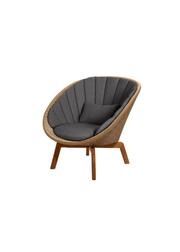 Frame: Cane-line Weave, Natural / Cushion: Selected PP, Dark Grey