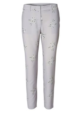 2nd One - Pants - Carine Bamboo Print - Ligth Grey Bamboo