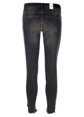 2nd One - Jeans - Nicole Crop Raw Edge - 834 Raw Trashed Grey