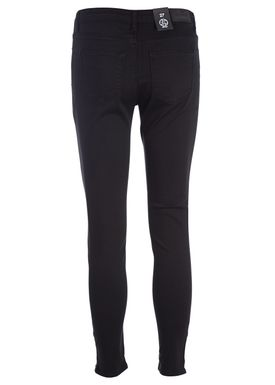 2nd One - Jeans - Nicole Zip - 006 Moon Black Satin