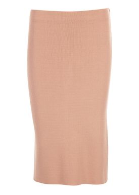 An Ounce - Skirt - Farina Knit Skirt - Pale Peach