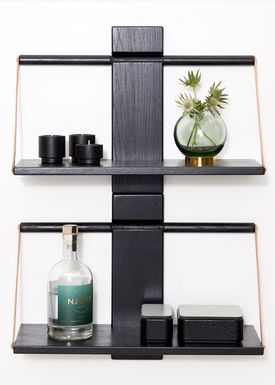 Andersen Furniture - Hylla - Wood Wall Shelf - Medium - Black