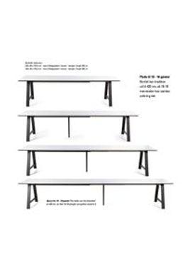 Andersen Furniture - Spisebord - T1 udtræksbord - ByKato - 95 x 220 cm til 4 plader