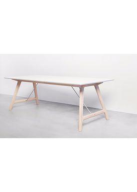 Andersen Furniture - Dining Table - Temp - Andersen T7 spisebord - Hvid laminat - Egestel M/ udtræk til 3 plader