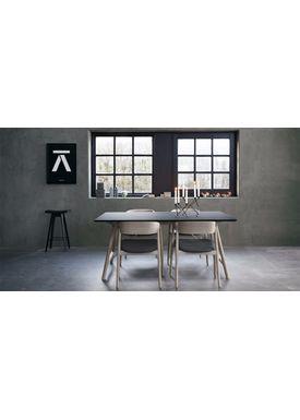 Andersen Furniture - Dining Table - Temp - Andersen T7 spisebord - Sort Fenix laminat - Egestel M/ Udtræk til 4 plader