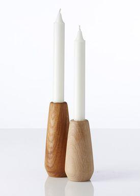 Applicata - Candle Holder - Torso Candleholder - Large - Stained Oak