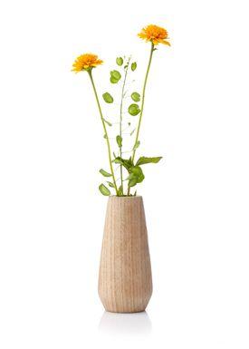 Applicata - Vase - Torso Vase - Medium - Stained Oak