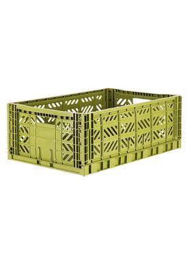 Aykasa - Boxes - Aykasa maxi foldable box - Olive