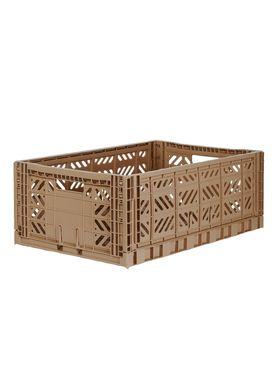 Aykasa - Boxes - Aykasa maxi foldable box - Warm Taupe
