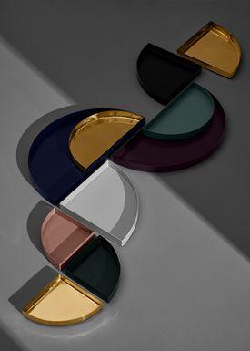 AYTM - Tray - UNITY half circle - Small - Gold