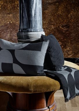 AYTM - Pillow - FORMA jacquard cushion - Black/Grey
