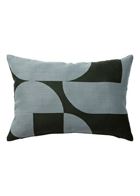 AYTM - Pillow - FORMA jacquard cushion - Forest/Pale Mint