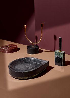 AYTM - Bowl - STILLA marble bowl - Black/Forest