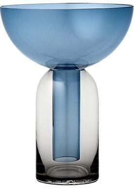 AYTM - Vase - Torus glas vase - Black/Navy