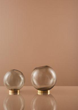 AYTM - Vase - Vase w/stand - Amber/Gold Mini