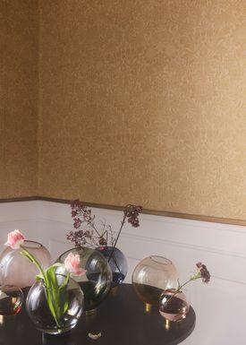 AYTM - Vase - Vase w/stand - Navy/Gold Medium