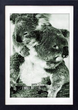 LOVE A FOX - Poster - Baby Koala Colour - Green Shades