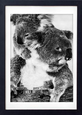 LOVE A FOX - Poster - Baby Koala Grey - Grey