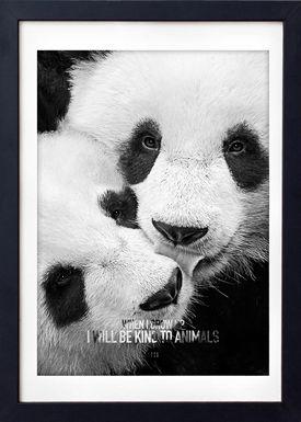 LOVE A FOX - Poster - Baby Panda Grey - Grey