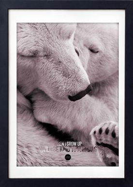 LOVE A FOX - Poster - Baby Polar Bear Colour - Powder Shades