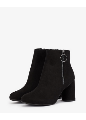 Bianco - Ankle Boots - Round Heel Ankle Boots - Black