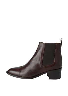Bianco - Ankle Boots - Dress Chelsea Ankle Boots - Dark Brown