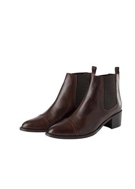 Bianco - Ankelstövlar - Dress Chelsea Ankle Boots - Dark Brown