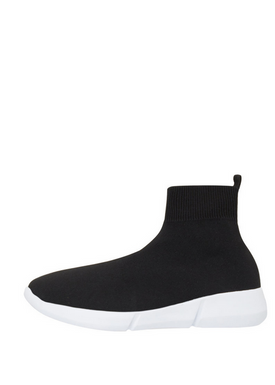 Bianco - Sneakers - Knit Hightop Sneakers - Black
