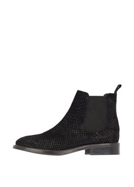 Bianco - Boots - Classic Leather Chelsea - Black Croco Suede