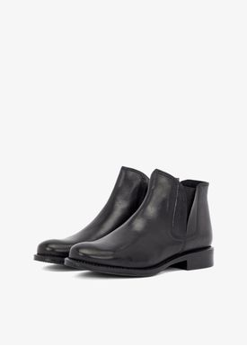 Bianco - Stövlar - V-Split Leather Boots - Black