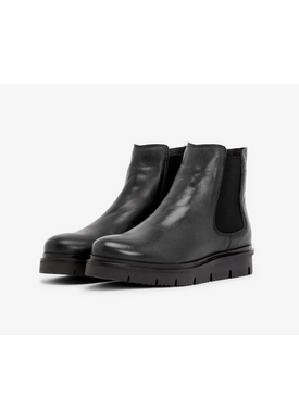 Bianco - Boots - Warm Coated Cleated Chelsea - Black