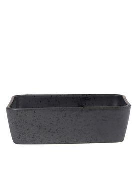 Bitz - Dish - Bitz Fade - Black Rectangular Dish 19x14