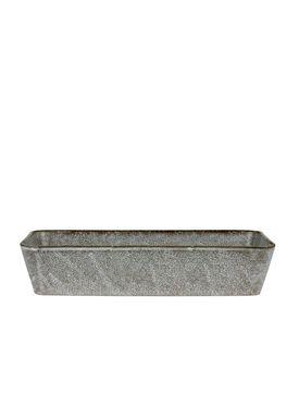 Bitz - Fat - Bitz Fade - Grey Rectangular Dish 38x24