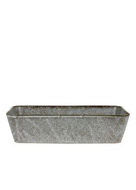 Bitz - Fat - Bitz Fade - Grey Rectangular Dish 32x19