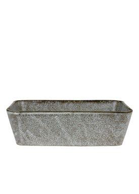 Bitz - Fat - Bitz Fade - Grey Rectangular Dish 19x14