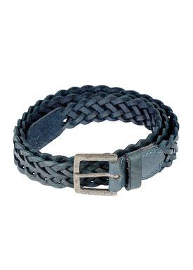 Black Colour - Belt - Braid Belt Thin - Blue