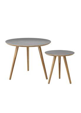 Bloomingville - Table - Cortado Sofabord - Grey/Bamboo