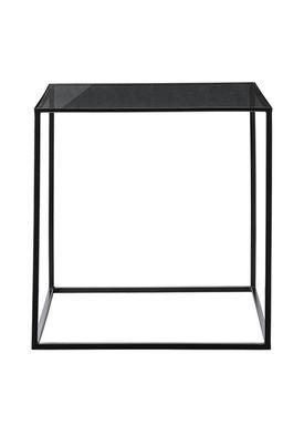 Bloomingville - Table - Cube Sidebord - Black Glass