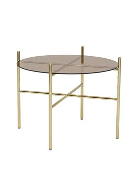 Bloomingville - Table - Lucca Sofabord - Brown Glass