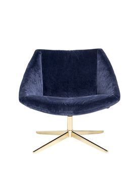 Bloomingville - Chair - Elegant Stol - Blue Polyester