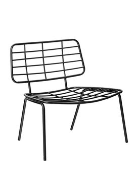 Bloomingville - Chair - Mesh Lounge Stol - Black Metal
