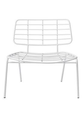 Bloomingville - Chair - Mesh Lounge Stol - White Metal