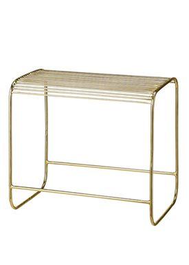 Bloomingville - Chair - Wire Taburet - Gold Metal