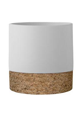 Bloomingville - Flowerpot - Cork Urtepotte - Cork/White