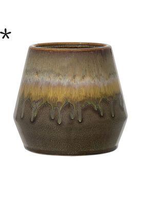 Bloomingville - Flowerpot - Urtepotteskjuler Grøn Stentøj - Ø15 H14