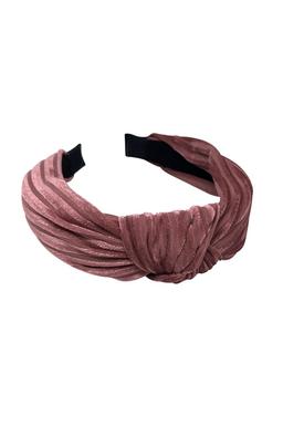 Bow's By Stær - Hair Band - By Stær Headband - Velvet Stripe Rose