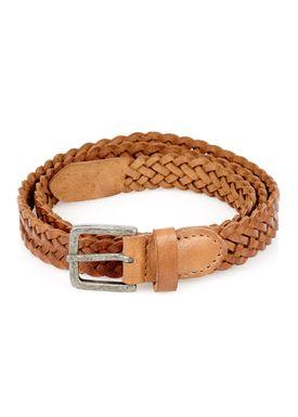 - - Braid Belt Thin - Cognac
