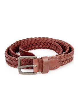- - Braid Belt Thin - Wine